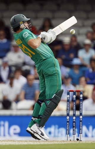 Albie Morkel bats against the West Indies during the ICC World Twenty20 match at the Oval in London. (AFP Photo)