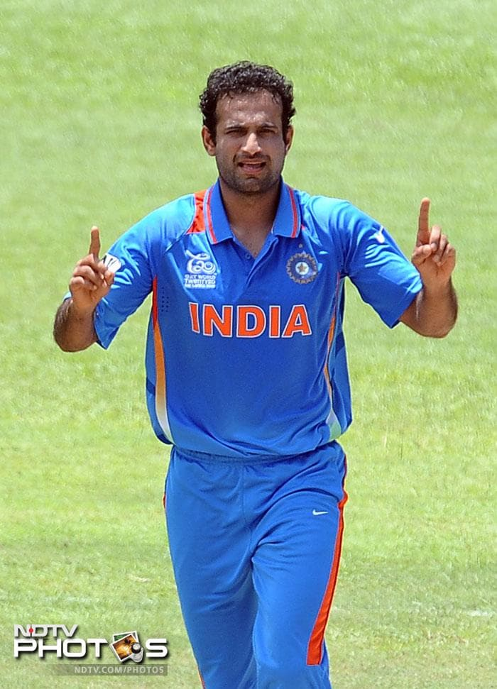 Riding on Irfan Pathan's five wicket haul, India defeated hosts Sri Lanka by 26 runs in their warm-up match before the World T20 at the P Sara Oval in Colombo. (AFP Photos)