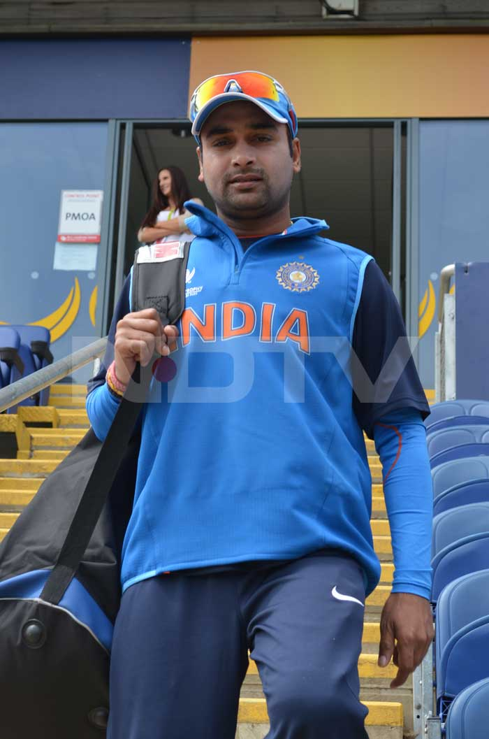 Amit Mishra hasn't got a chance to play in the ICC Championship Trophy this year but he is never shy of bowling at Indian batsmen in the nets.