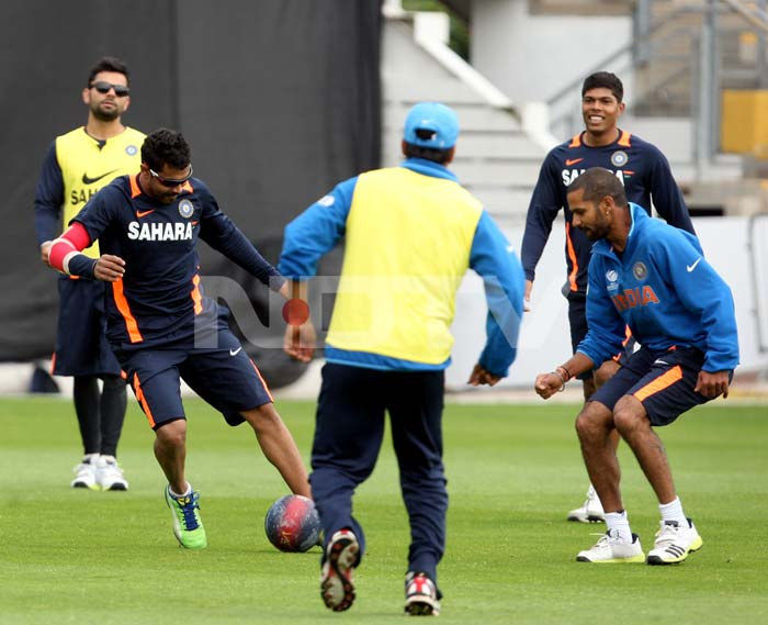 So far in the competition, the Indians have trained outdoors only a day ahead of their games. But Tuesday afternoon saw a definite shift in approach and attitude. What was supposed to be optional training became a full-fledged session.