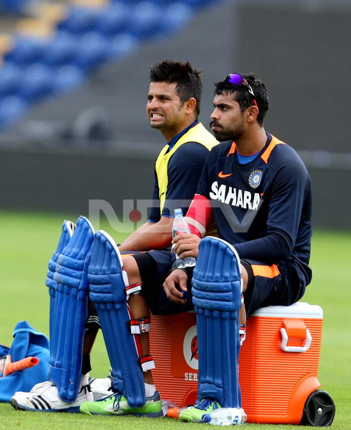Suresh Raina turned up more than an hour before the rest of the squad along with fielding coach Trevor Penney. 'Back of length and seaming', and 'a bit of Dilshan' were the two main bowling types that Raina and Penney experimented with.