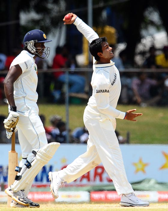 <b>Pragyan Ojha</b><br><br> <b>Rating: 6/10</b><br><br> The left-arm spinner came into his own in the third Test after two lacklusture performances.<br><br> Led the Indian charge with 7 wickets in the match which helped India restrict Sri Lanka. Has shown promise but still a lot to do.