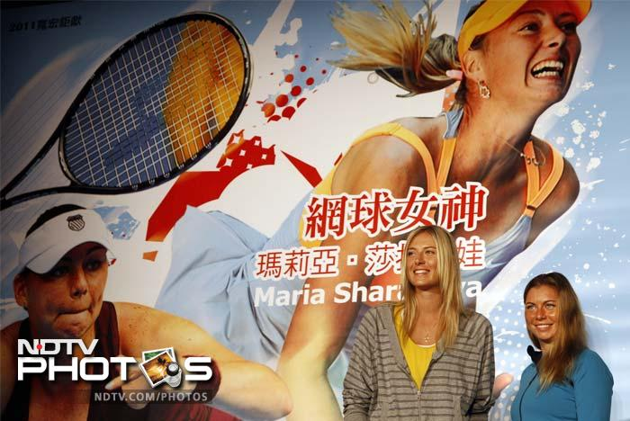 Both Sharapova and Zvonareva, like Michelle, also played an exhibition match against each other for the children. Michelle had played against Serena.