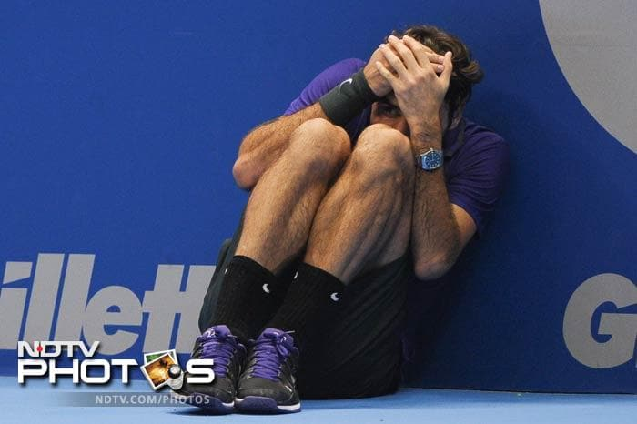 Roger Federer is scared. He is very, very scared. He should be since he asked a ball boy to play instead of him and got a first-hand taste of what it is like to stand in the line of fire without a racquet to defend the body with.