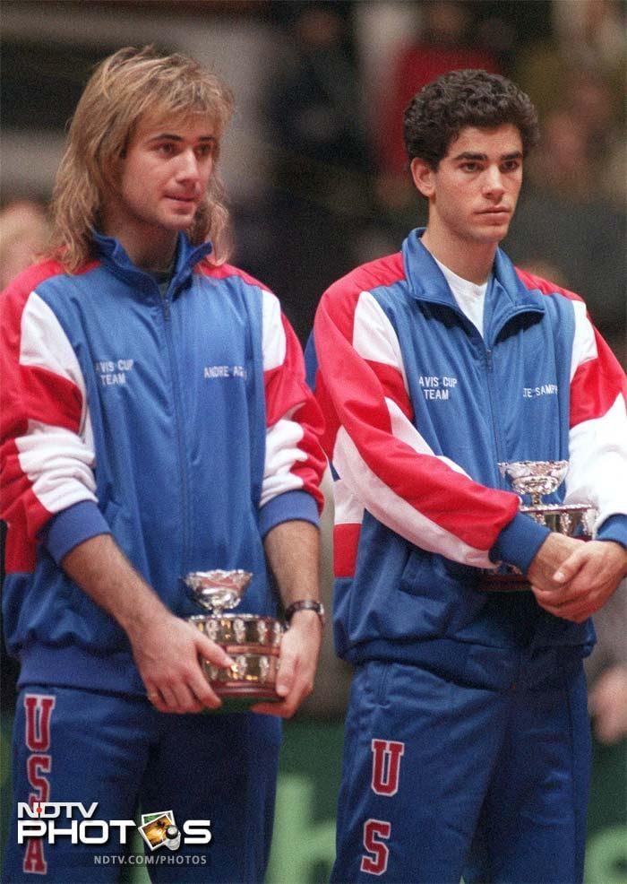 <b>Andre Agassi vs Pete Sampras:</b> Borg-McEnroe gave way to two Americans who were at each other from the moment they met. Both were different in their styles and temperament but the 1990s saw some of the best tennis played, courtesy these two. In all finals, Sampras lead 9-7.