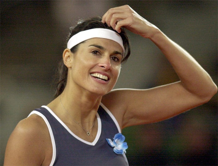 <b>Gabriela Sabatini</b>, Argentina: She was one of the leading players on the women's circuit in the late-1980s and early-1990s. She won the women's singles title at the US Open in 1990, the women's doubles title at Wimbledon in 1988, two WTA Tour Championships in 1988 and 1994, and a silver medal at the 1988 Olympic Games. Sabatini retired from the professional tour in 1996, having won 27 singles titles and 14 doubles titles. She reached her highest ranking of World No. 3 in 1989. Her last professional singles match was on October 14, 1996, when she lost to Jennifer Capriati 6-3, 6-4. Sabatini was inducted into the International Tennis Hall of Fame on July 15, 2006.