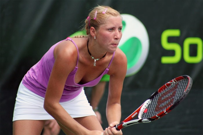 <b>Alona Bondarenko</b>, Ukraine: She has a younger sister Kateryna Bondarenko who also plays on the Tour. She formerly paired with her older sister Valeria in doubles. She is currently ranked 26 in singles and 39 in doubles by the WTA. Her career high singles ranking was Number 19, achieved on 14 April 2008. She won the 2008 Australian Open women's doubles tournament with sister Kateryna, beating Victoria Azarenka and Shahar Pe'er in the finals.