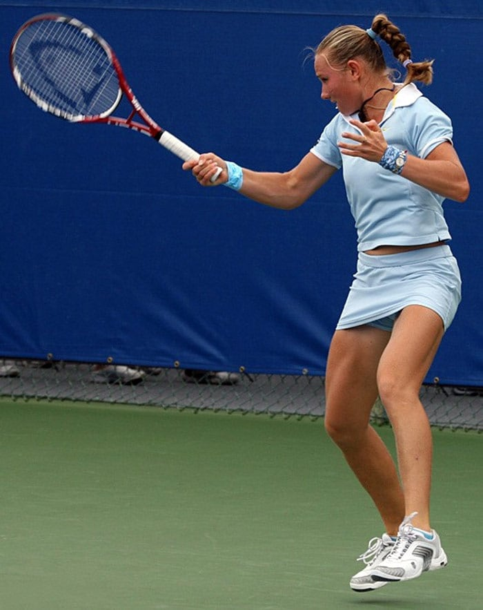 <b>Vasilisa Bardina</b>, Russia: She has won 3 ITF Women's Circuit singles titles and 3 ITF doubles titles, but not any WTA titles in singles or doubles. Vasilisa made the final of Moorilla Hobart International in 2007, before losing to Anna Chakvetadze. She was forced off the tour after Wimbledon in 2007 due to injury, she had suffered a stress fracture in her right shin. She tried to come back at the Australian Open in 2008, but it was too soon after her injury and she had only been practicing for two weeks before the event. She lost in straight sets to Sandra Kloesel in qualifying. Since then Bardina has made a few tentative appearances, predominately at ITF events in North America with limited success.
