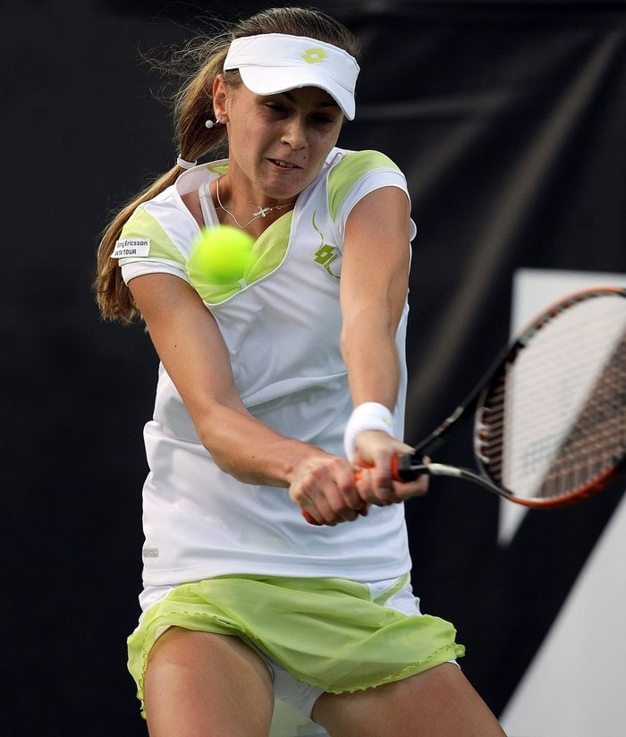 """<b>Magdalena Rybarikova</b>, Slovakia: On June 22, 2009, she achieved her career-high WTA singles ranking of 40th. Rybarikova is coached by Mojmir Mihal and her fitness coaches are Kristian Cupak and Michal Dubovec. Like many tennis players she started young at the age of 8. She was born in Piestany to father Anton, a business manager, and mother Maria. She has two older siblings, Filip and Nada, and a dog named Sindy. She moved to Bratislava at age 15 to train at the national tennis center there. Her favorite surfaces are grass and hard. She likes pizza, chicken, iced tea, and the movie """"Pretty Woman"""". Her favorite tournaments are Wimbledon and the US Open. She admires Martina Hingis as a tennis player. She has stated that if she wasn't a tennis player, she would like to study archaeology, as she likes the Indiana Jones movies. She carries with her a toy bear as a lucky charm."""