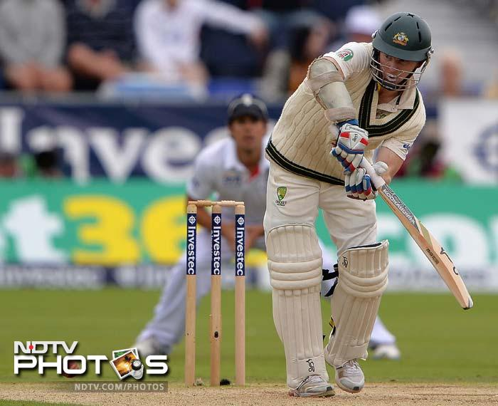 Chris Rogers' 101 not out saw Australia to 222/5 on Day 2 as they trailed England by 16 runs. (AP and AFP images)