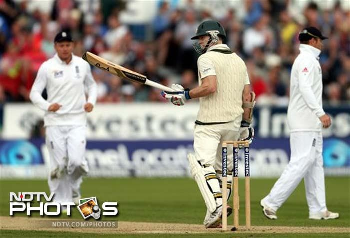 Chris Rogers was the man of the moment as he registered his first Test hundred and set the platform for Australia to dictate terms.