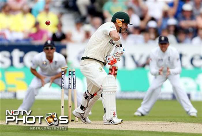 Australia lost David Warner early after bowling out England for 238 and Australia were under pressure early.