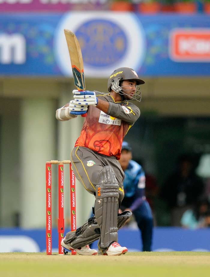 Titans won the toss and put the Sunrisers Hyderabad in to bat at the Jharkhand State Cricket Association stadium in Ranchi. Parthiv Patel, along with Shikhar Dhawan, took the Hyderabad off to a blazing start, scoring 26 runs from 24 balls with the help of two sixes and two fours. Patel was particularly lethal against Morne Morkel and hammered the South African pacer for a six over extra cover and mid-wicket. (All BCCI images)