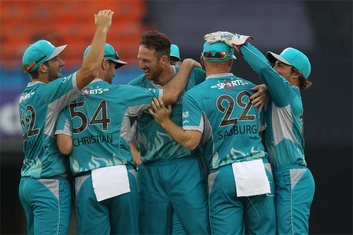 Matthew Gale was the main star for Brisbane and his four wickets - three in the final over - restricted the South African side to 123 in 18.5 overs.