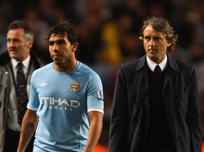 Relations between Carlos Tevez and his club Manchester City went into steep decline after the Tevez allegedly refused to play as a substitute during a Champions League match against Bayern Munich. Since then, the Argentine has missed practices, travelled to his home country without permission from his club and failed to show up for a disciplinary hearing. His annoyed manager recently said that Tevez, who commands a price of 250,000 pounds a week, will never play for Manchester City again.