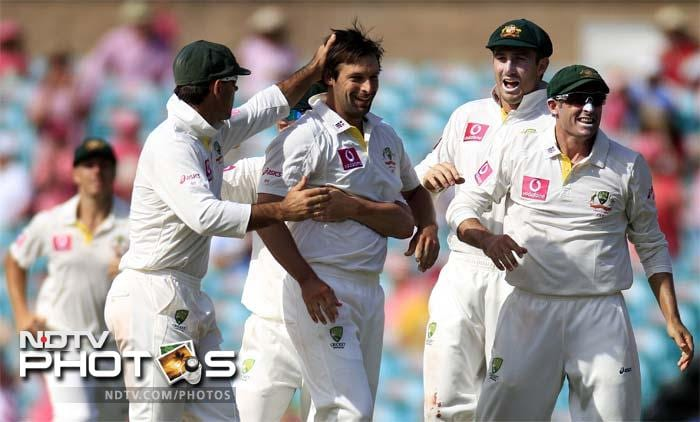<b>Tamed by Oz pacers:</b> While India's famed batting line-up continued to misfire, Australia's pace attack continued to hit the bulls eye. Ben Hilfenhaus took eight wickets while Peter Siddle and James Pattinson had five for the match. Australian batsmen showed the pitch was easy to bat on but their bowlers displayed that it was still possible to claim wickets with a good line and length.