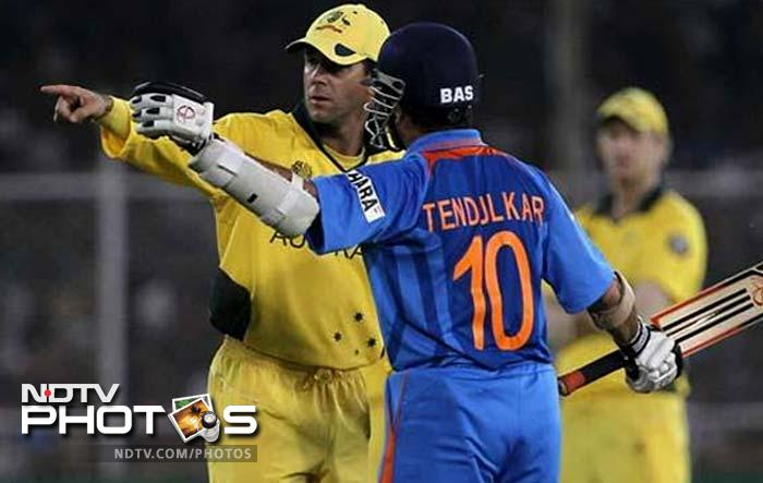 Australia stood in India's way in the 2011 World Cup (vice-versa if you may). Ahmedabad hosted the quarter-final match and Australia set a target of 261 for India. Their coach had already billed it as a mini-final but the hosts were like a group of trained soldiers on a mission as the target scored was achieved with 14 balls and 5 wickets to spare. Sachin and Gautam Gambhir had fifties to their name as India avenged their loss in 2003 by dumping Ponting and his men out of the tournament.