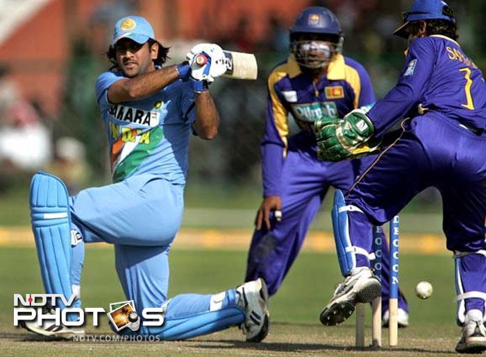 <b>Mahendra Singh Dhoni: </b>183* off 145 balls against Sri Lanka on 31 OCt 2005 at Jaipur. Fours: 15, Sixes: 10, Strike Rate: 126.20