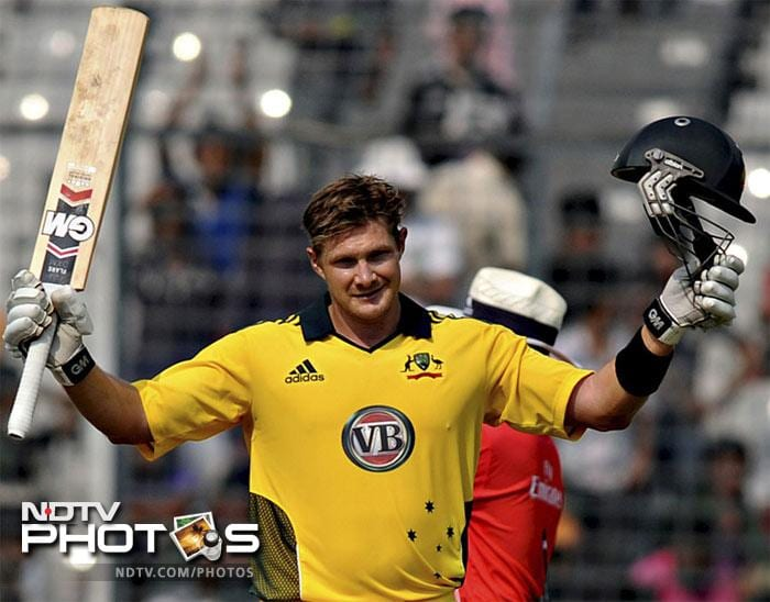 <b>Shane Watson: </b>185* off 96 balls against Bangladesh on 11 Apr 2011 at Dhaka. Fours: 15, Sixes: 15, Strike Rate: 192.70