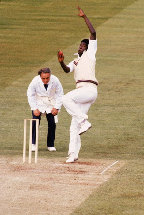 <b>Joel Garner 5/38 West Indies vs England 1979 World Cup Final</b><br><br> England's dream to win the World Cup on home soil was thwarted for the second time. After Viv Richards and Collis King had helped the holders put up a big total, it was left to the 'Big Bird' to steamroll the hosts. His toe crushing yorkers from above 7 feet were too much even for the likes of Gooch, Boycott and Gower.