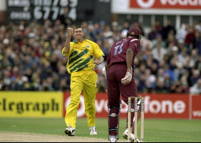 <b>Glenn McGrath 5/14 Australia vs West Indies 1999 World Cup</b><br><br> At the peak of his powers, Glenn Mcgrath produced one of the finest spells of seam bowling under friendly English conditions at the Old Trafford.<br><br> With both the teams needing a win to move into the Super Six stage, Mcgrath ensured that the contest would be over in the first 50 overs itself as he picked up 5 precious wickets. West Indies were all out for 110 and booted out of the World Cup.