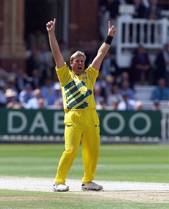 <b>Shane Warne 4/29 Australia vs South Africa 1999 World Cup</b><br><br> It had to be a tightly contested semi-final and every ball of this match was worth watching. Defending a small total Australia had failed to get early breakthroughs.<br><br> In comes Shane Warne and produces two of the deadliest deliveries to clean up the opening duo of Kirsten and Gibbs. Almost immediately he sent back the Protean skipper Hansie Cronje for a duck to put the opponents under great pressure.<br><br> But the clincher was yet to come. Warne came back to get the prized wicket of Kallis who was on his way to take South Africa to the final. The game ended in a draw and Australia progressed to the final.