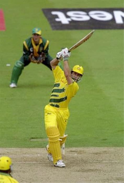 <b>10. Michael Bevan (Australia) 65 vs South Africa 1999 World Cup</b><br><br> Such was his ability to finish games that his team members in the Australian squad would call him 'The Terminator'. Michael Bevan was the ultimate ODI cricketer of the nineties.<br><br> There are several heroic episodes in his career where he has bailed his team out from precarious situations. This was another one of those knocks. Coming in to bat with the Australians having their backs to the wall, Bevan first stringed a 90-run stand with Steve Waugh and then showed great guts and gumption to bat with the tail and take Australia to a competitive total. He was the last man out.<br><br> A total of 213 which allowed the great Shane Warne to spin a magic web and bamboozle the Proteas in what is a classic World Cup encounter.