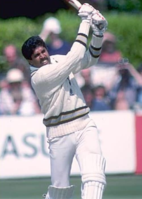 <b>3. Kapil Dev (India) 175* vs Zimbabwe 1983 World Cup</b><br><br> This is one of Indian cricket history's most celebrated knocks. But unfortunately due to a BBC strike, not many managed to catch a glimpse of Kapil Dev's blistering epic.<br><br> Walking in with India tottering at 17/5 in a must win match against the minnows Zimbabwe, Kapil Dev started a rearguard which has remained unmatched in World Cup history.<br><br> Hitting at will as if he had an appointment at the other end of the world, Kapil forged a then record 126-run 9th wicket partnership with Syed Kirmani to take India to a total of 266 in 60 overs. India eventually won the match by 31 runs.