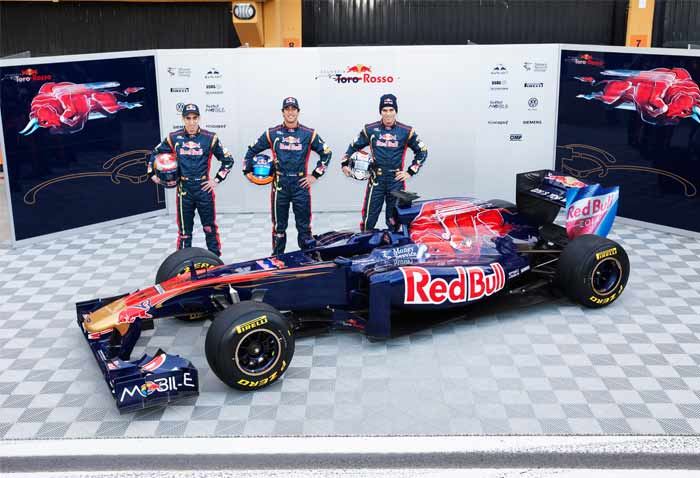 Toro Rosso have come out with 'STR6' for 2011 which seems like a major improvement over the older model. This one is the first Toro Rosso fully developed by the team without relying on Red Bull. (Getty Images)