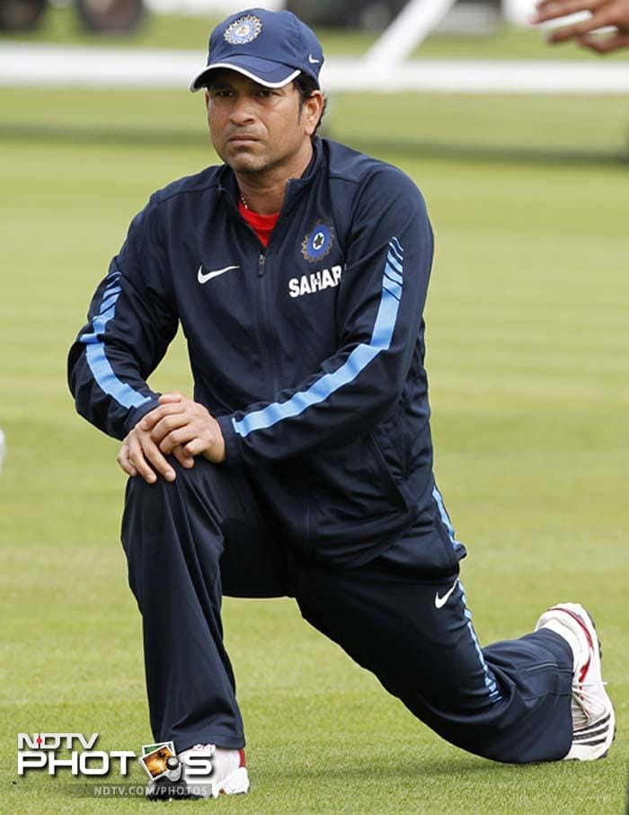 Some stretching exercises on his own before joining his team-mates was Tendulkar's itinerary of the day.