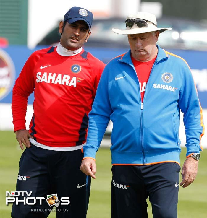 He was joined by India skipper MS Dhoni as both looked like discussing strategies while continuing to take rounds of the ground in-between stretching, exercise and leisure sessions.
