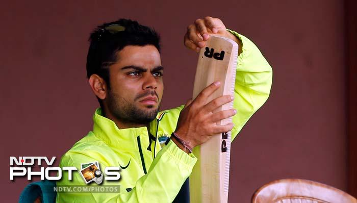 Virat Kohli though had his eyes firmly on his bat and his training. The in-form batsman has smashed fifties by the dozen and will look to take on England in the second group match on Sunday.