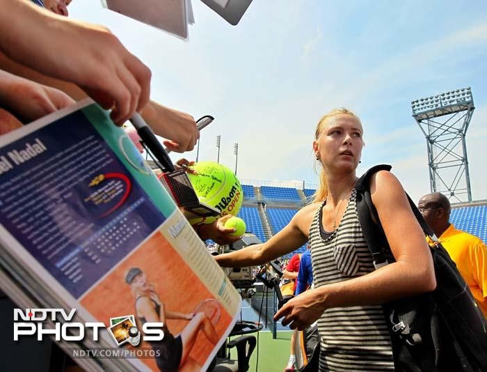 Sharapova continues to be one of the most well-recognised faces of contemporary tennis and New York is no exception as fans try to get her autograph here.