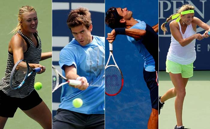 Expect more than a 100 per cent when top-tennis players come out to contest in the US Open. It however is not all about reputation and form. Big names have been training hard to be at their fighting best to get a shot at the title. (AP and AFP images)