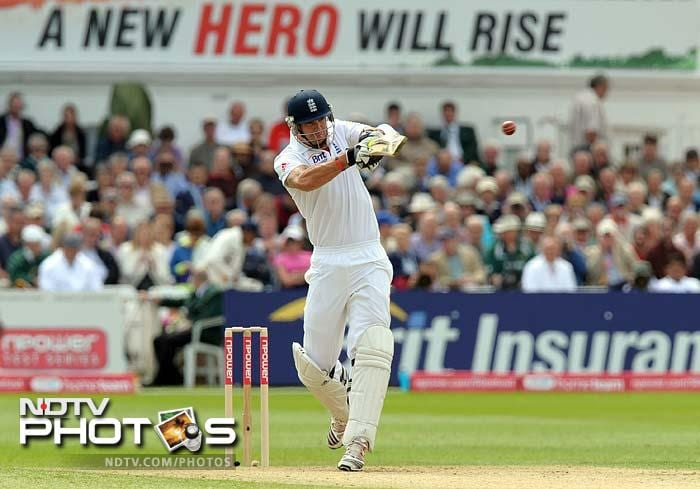 Kevin Pietersen then combined with captain Andrew Strauss to steady England after the 2 early wickets.