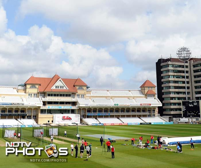 Team India practicing hard in the nets at Trent Bridge, the venue for the 2nd Test against England.