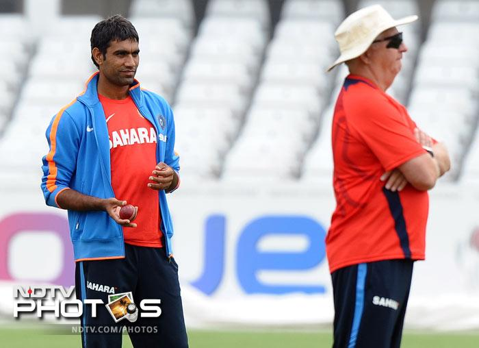 Chances are slim for Munaf Patel to feature in the line-up even after a good show in the Wast Indies where he was India's main man with the ball. (AFP Photo)
