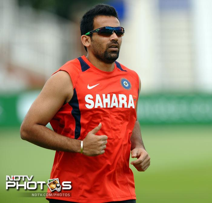 India will however rue the absence of pace spearhead Zaheer Khan who is out with a hamstring injury. (AFP Photo)