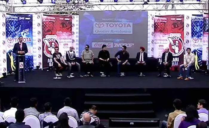 "The music anthem of the Toyota University Cricket Championship was launched on Tuesday by former cricketer Wasim Akram. The peppy anthem is called ""Ab Hamari Baari Hai""."