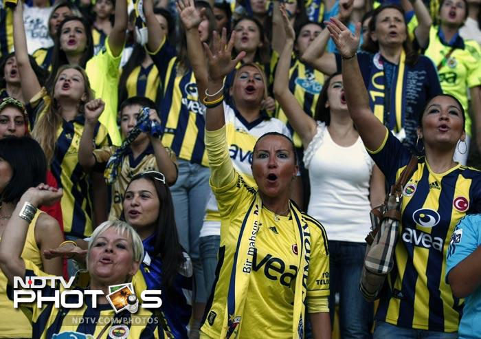 More than 41,000 women and children filled Sukru Saracoglu Stadium to watch Fenerbahce play against Manisapor in Turkish League soccer.