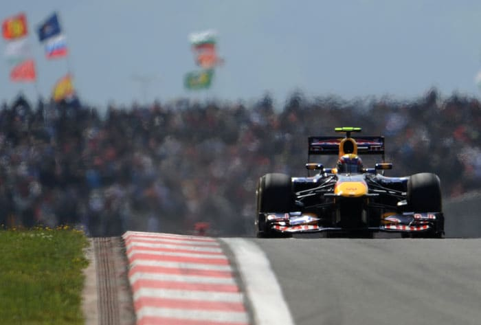 Red Bull Racing's Australian driver Mark Webber, who finished 2nd, drives at Istanbul Park during the Turkish Formula One Grand Prix. (FP PHOTO)