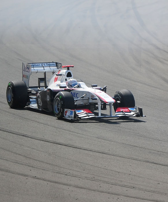 Sauber's Japanese driver Kamui Kobayashi rounded off the top 10, finishing one behind Toro Rosso's Sebastien Buemi at Istanbul Park in the Turkish Formula One Grand Prix. AFP PHOTO
