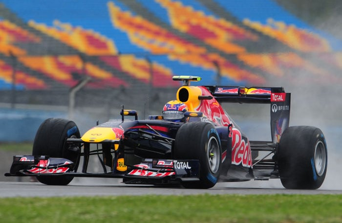 Red Bull Racing's Australian driver Mark Webber was the 5th fastest in the 2nd practice after finishing only 11th in the opening session of the Turkish Formula One Grand Prix. (AFP PHOTO)