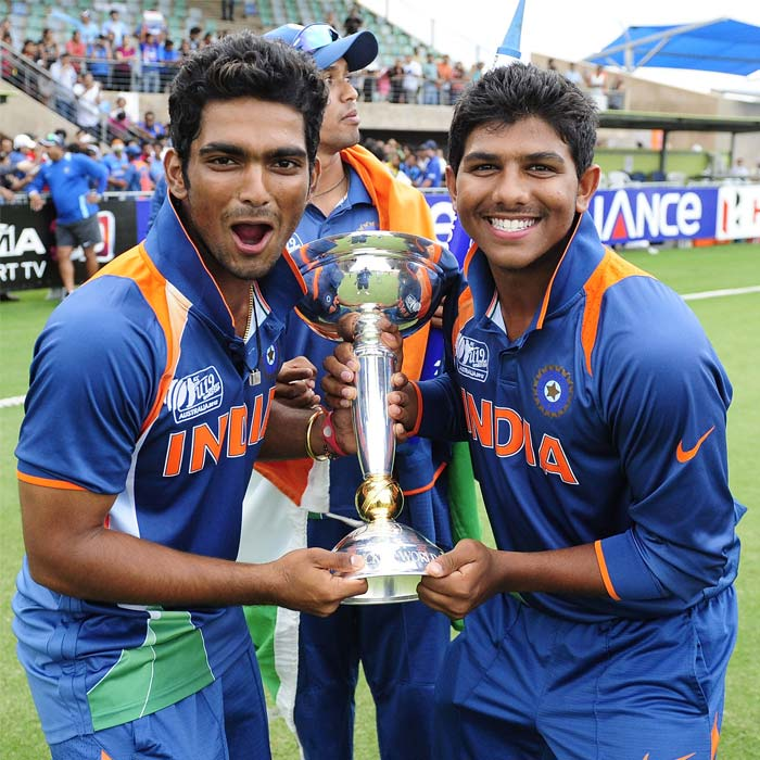 The Indian under 19 team defeat Australia in Townsville to claim the trophy. With the win, came tweets wishing them on their resounding sucess. A look at who said what. (Photo: ICC/Getty Images)
