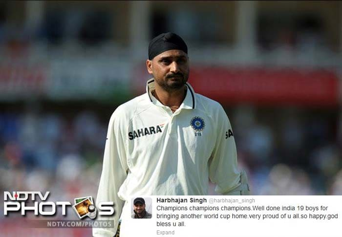 Having played in the tournament himself, Harbhajan Singh knew the feeling as he wished the boys.