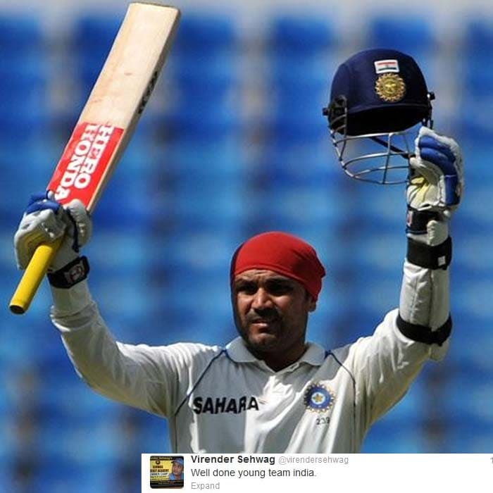 Virender Sehwag chose to keep it straight and simple.