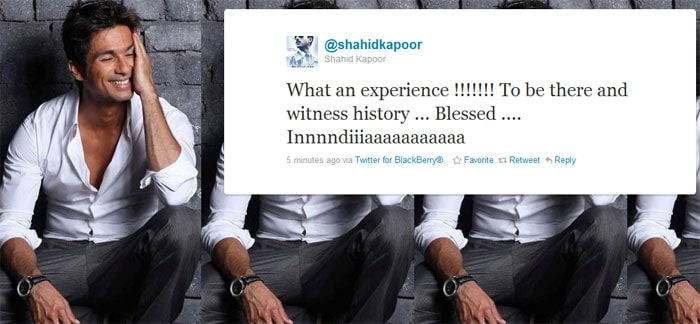 Shahid Kapoor, who was at the final, said he was lucky.