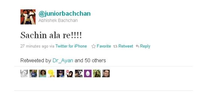 Abhishek's favourite boy is Sachin.