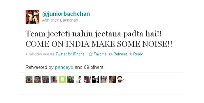 Abhishek Bachchan displays undying love for the nation.