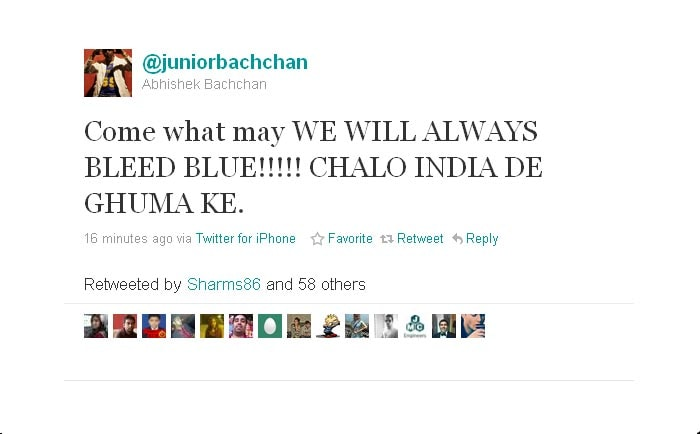 Abhishek Bachchan expresses strong sentiments and undying support.